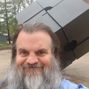 Bryan at the UM cube