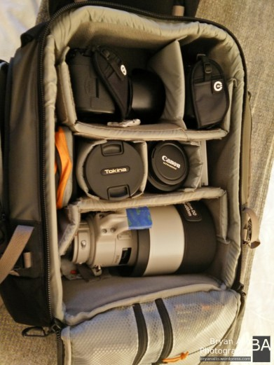 Managed to fit it all into the LowePro!