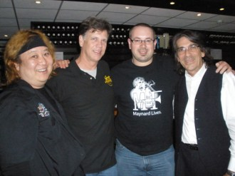 After the TrumpetParty in the Netherlands, 2009. L-R: Eric Miyashiro, Roger Ingram, BD, Lee Thornburg