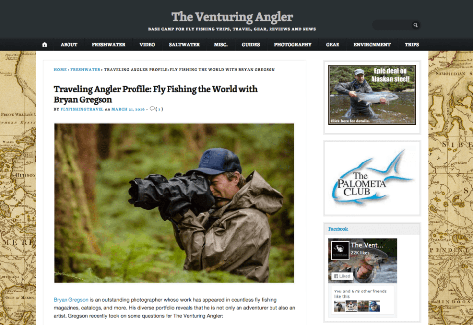 The Venturing Angler Interview March 2016 2