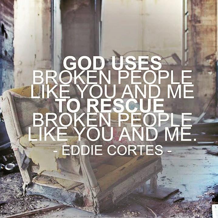 Image result for broken God uses