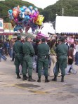 """""""Knots of guardia civil stand idly by"""""""