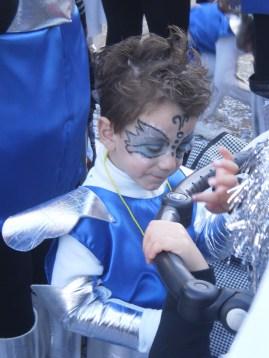 Electric blue tinsel boy
