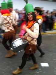 Drummer smiles