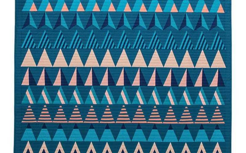 Exploring Graphic Design Vocabulary through Isosceles Triangles {Modern Triangle Quilts}