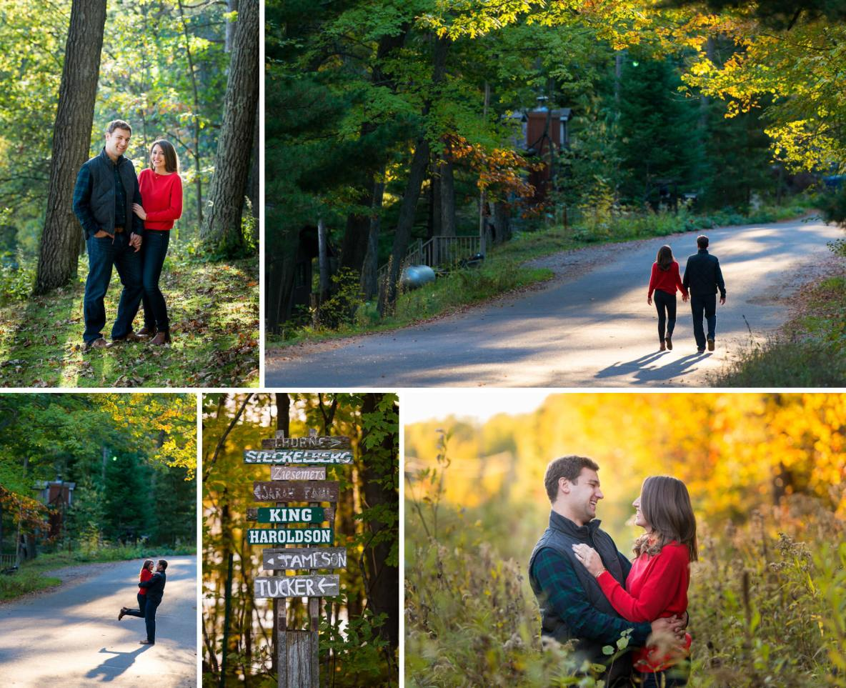 North woods cabin country engagement photos by Bryan Jonathan Weddings.