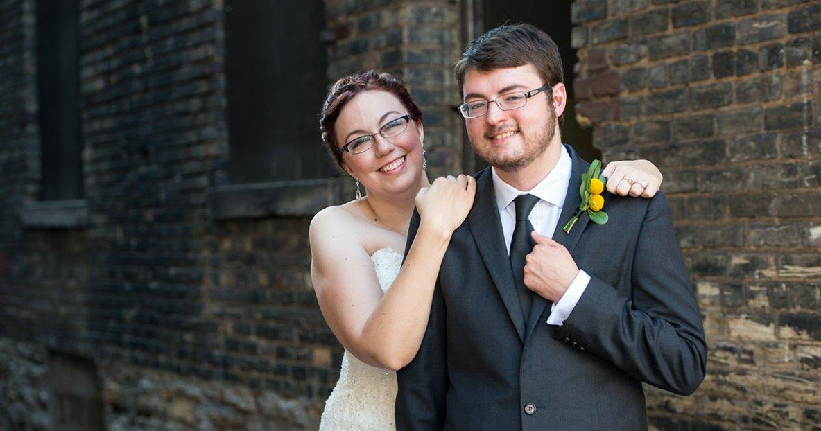 Fall wedding at Wacuta on 413 in Saint Paul, MN.