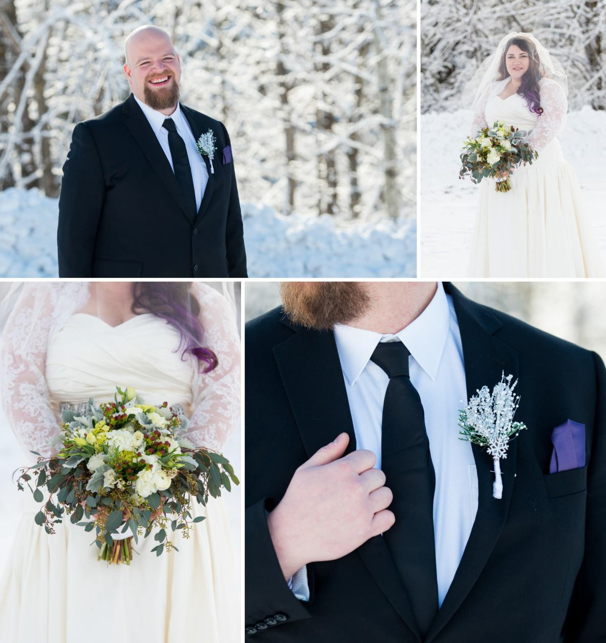 Winter Wonderland Wedding in Duluth, MN.