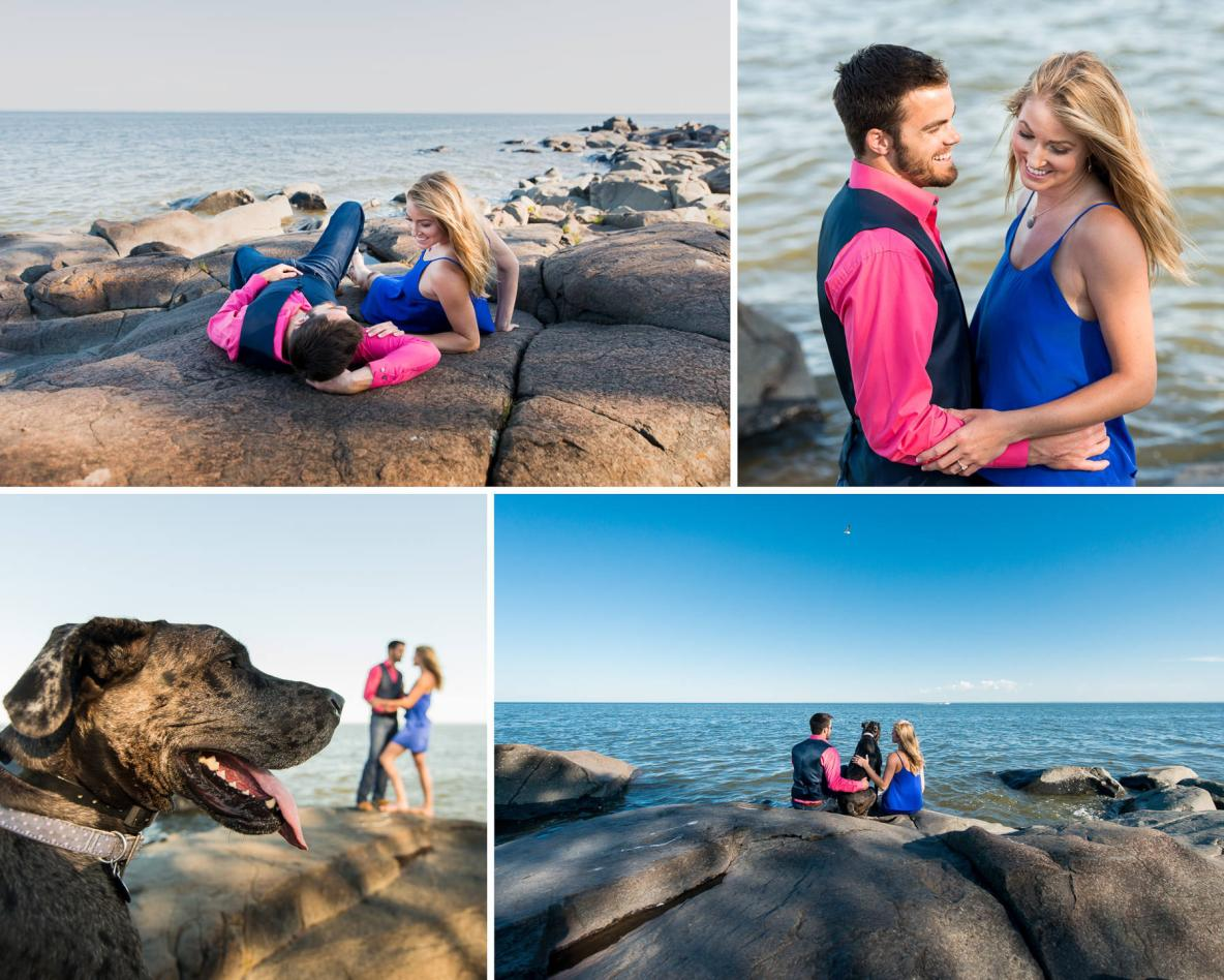 Brighton Beach Engagement Photos