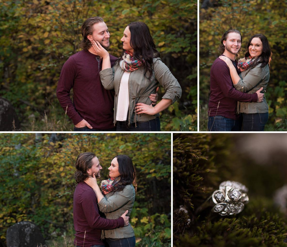 Fall colors engagement shoot on Hawk Ridge.