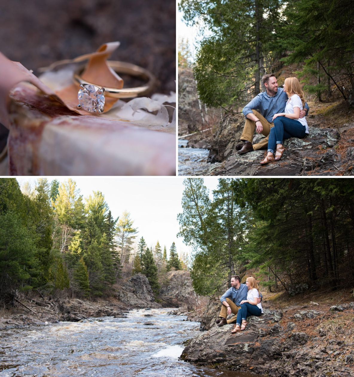 Engagement photos at Lester Park in Duluth, MN.