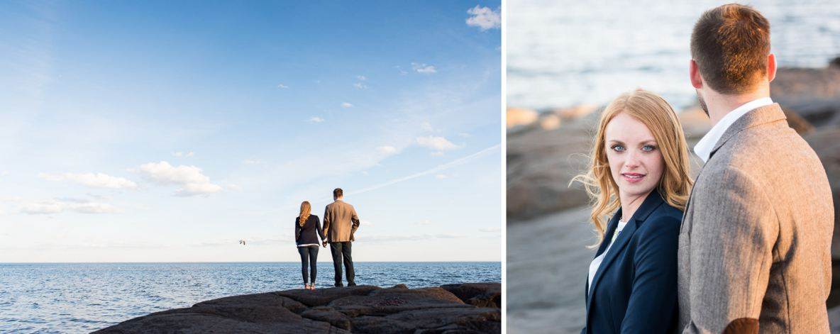 Engagement photos on Lake Superior in Duluth, MN.