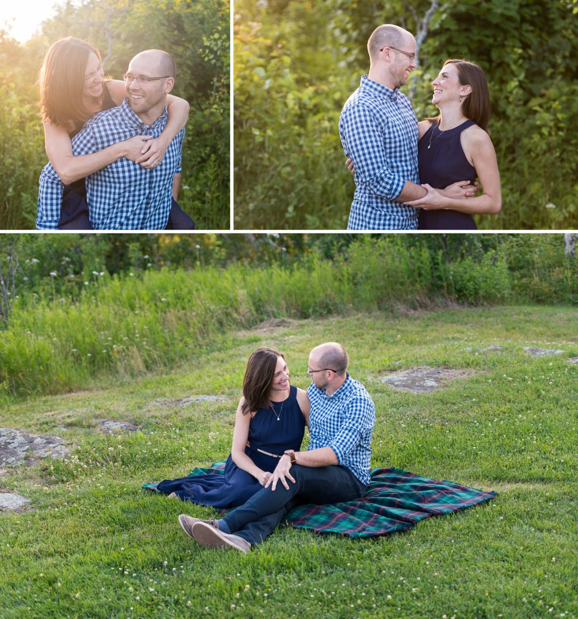 Engagement photos at Enger Tower in Duluth, MN.
