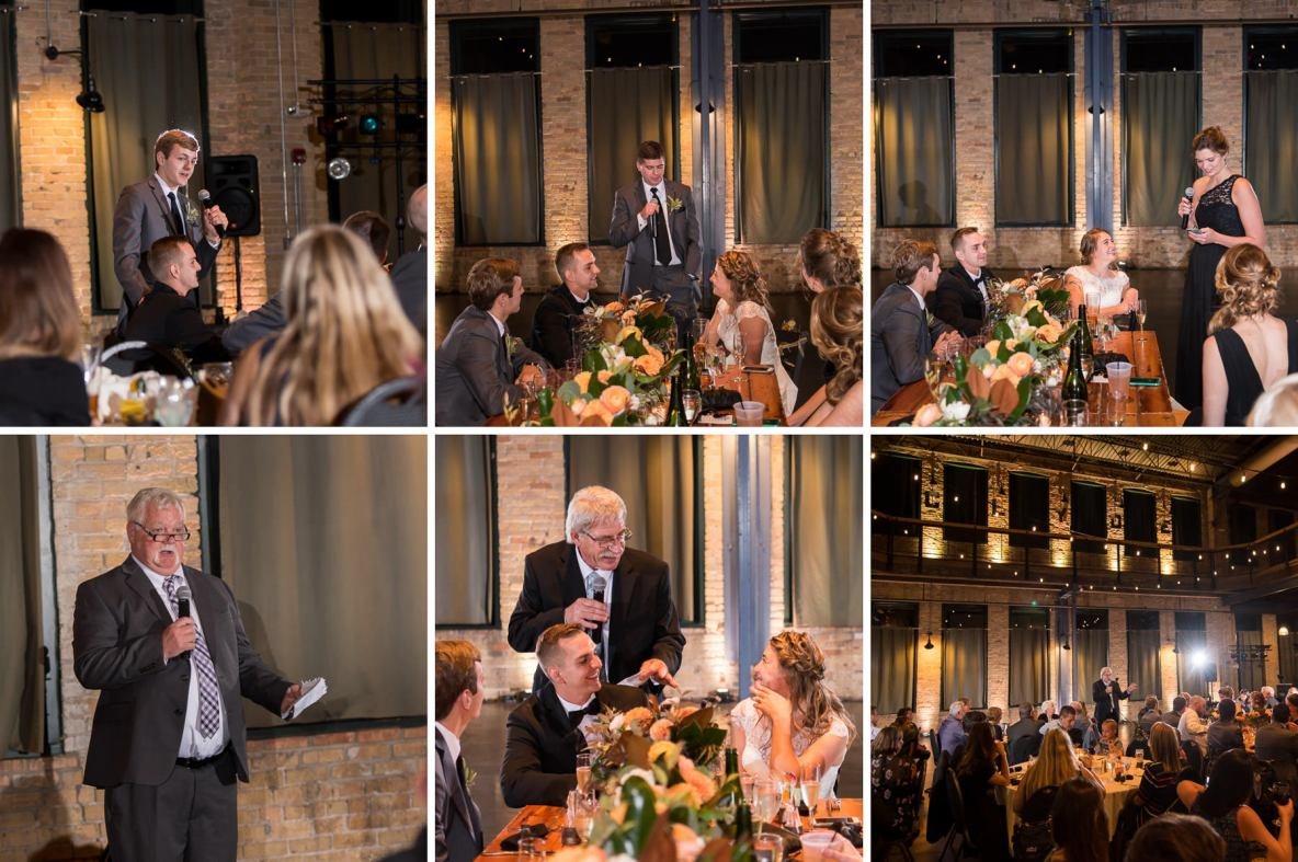 Photos of the speeches at the reception.
