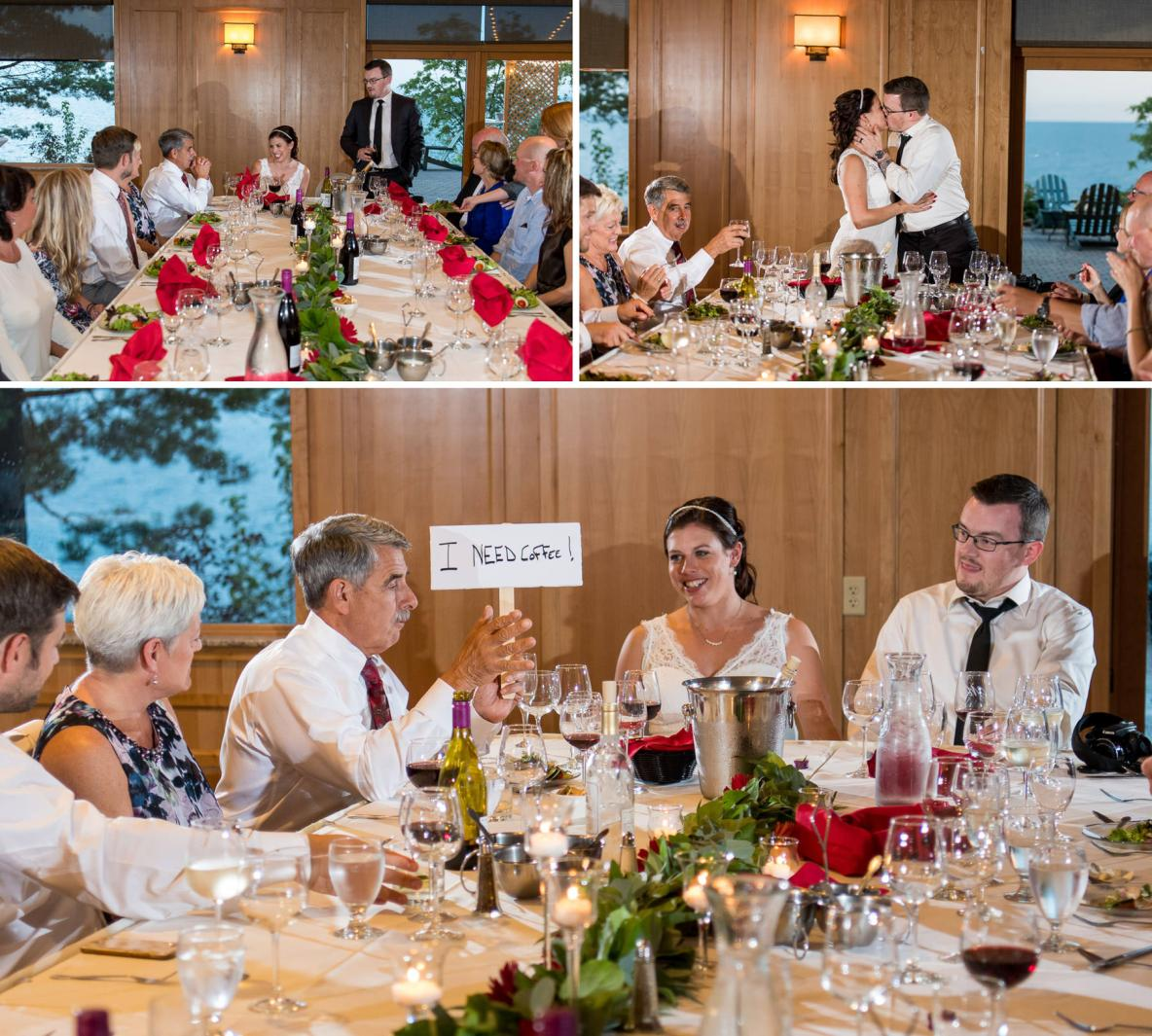 Photos of the reception dinner at Grand Superior Lodge in Two Harbors, MN.