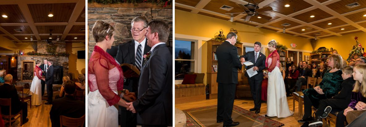 Photos of the intimate wedding ceremony at Larsmont Cottages.