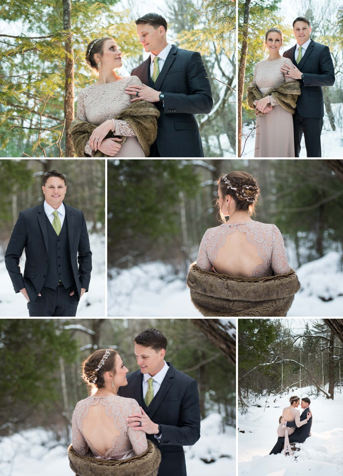Winter wedding photos in Duluth, MN.