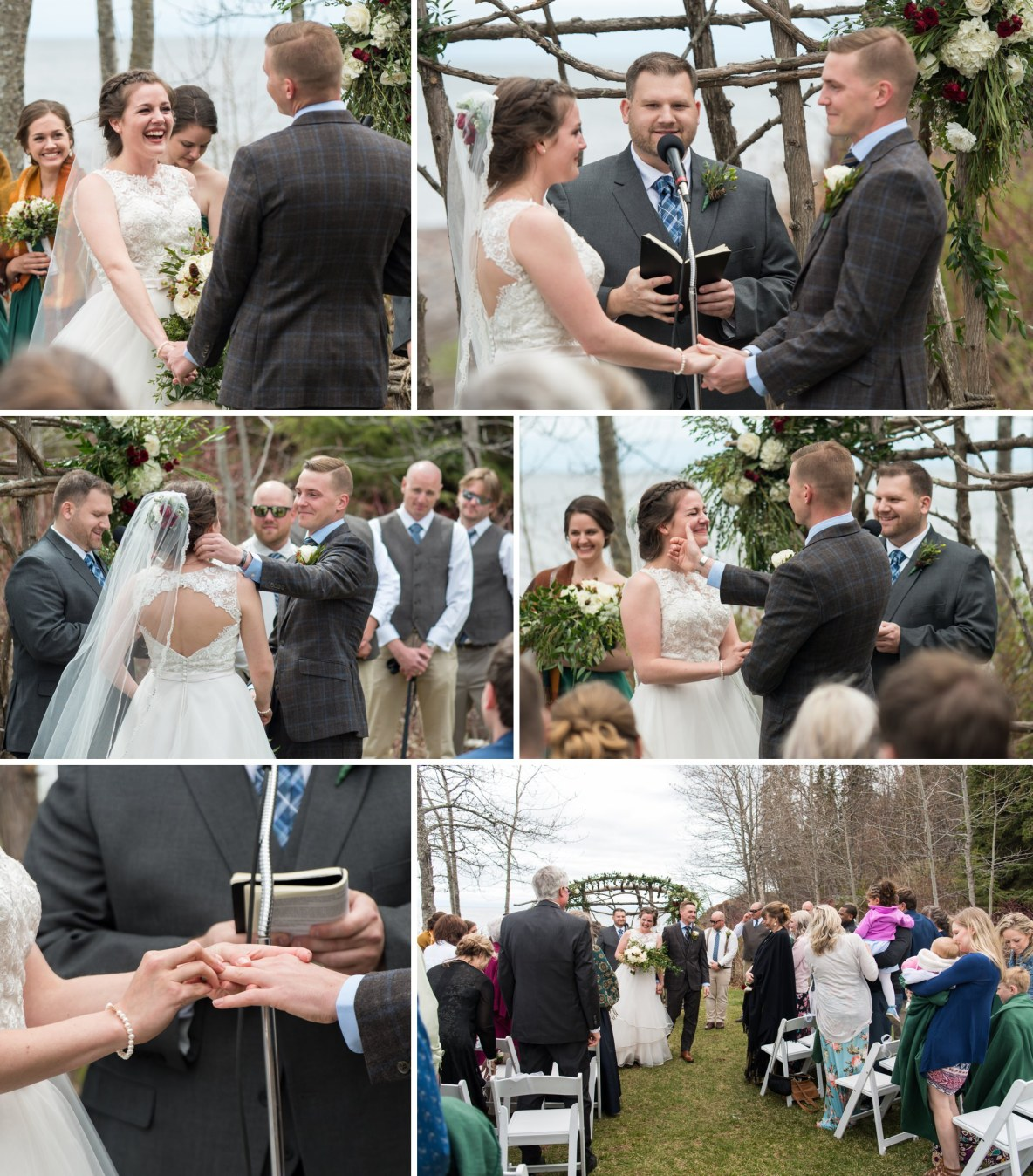 Photos of the wedding ceremony