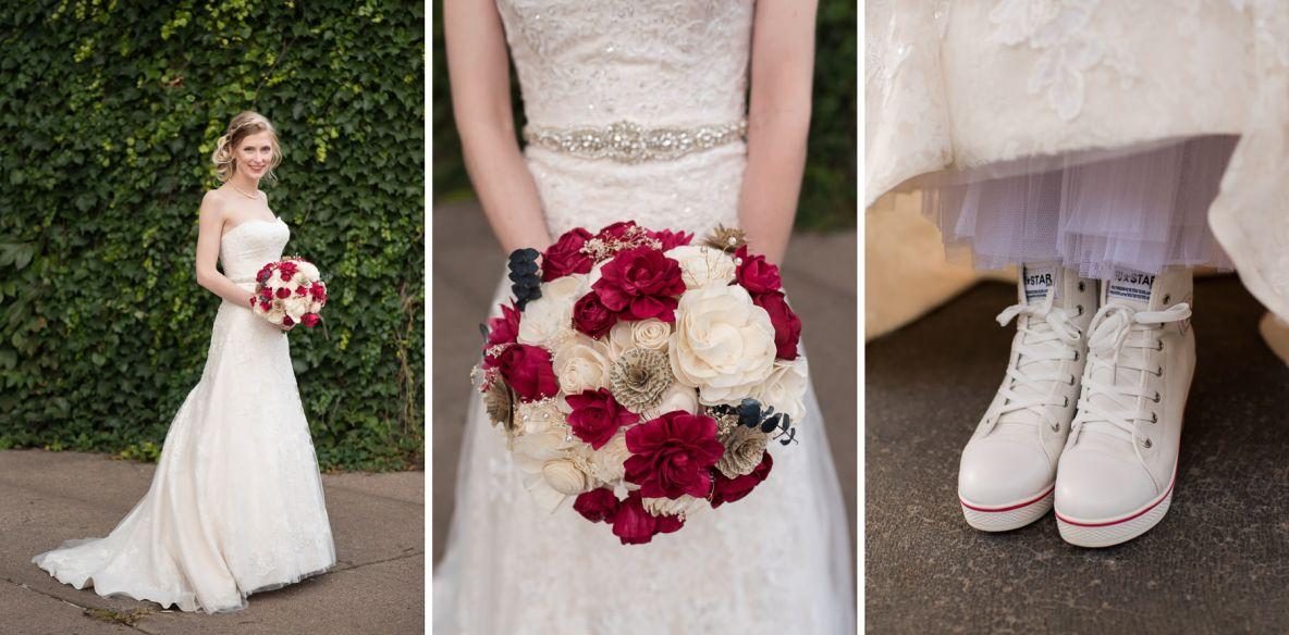 Maddie's wedding details.