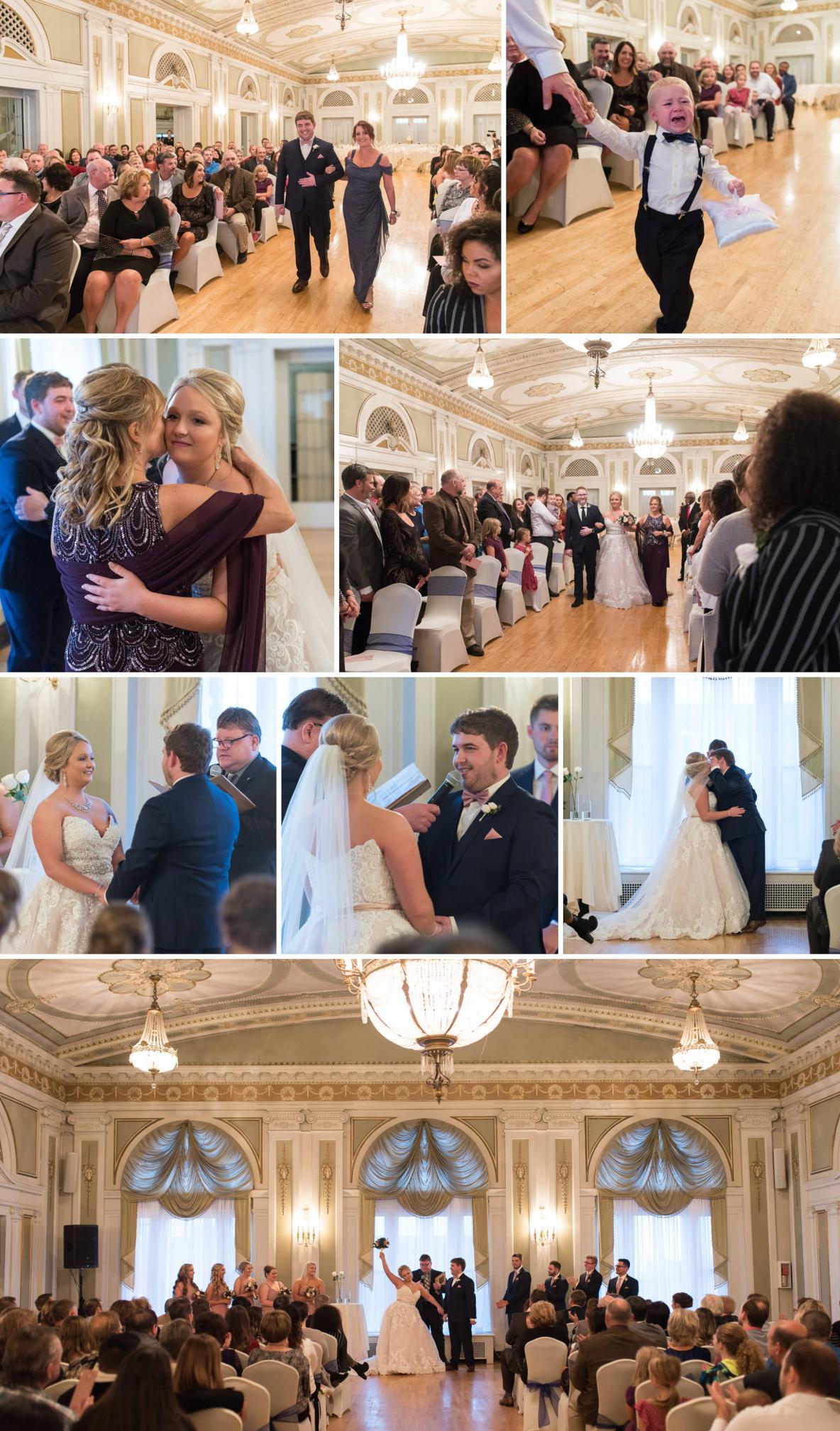 The wedding ceremony at Greysolon.