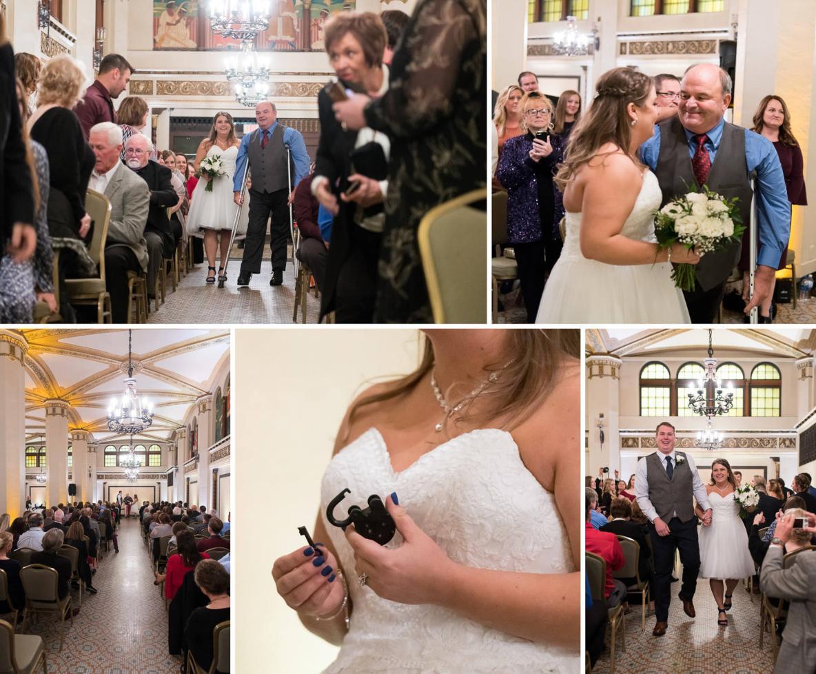 Casey and Diana's wedding ceremony.