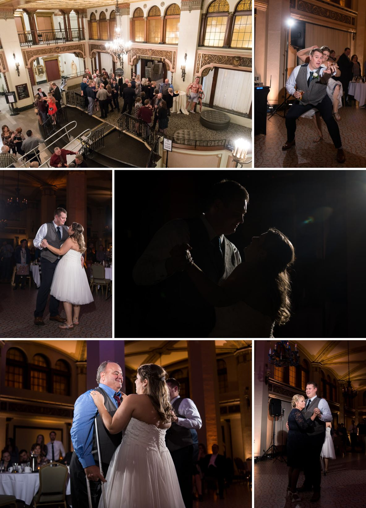 First dance and reception photos.