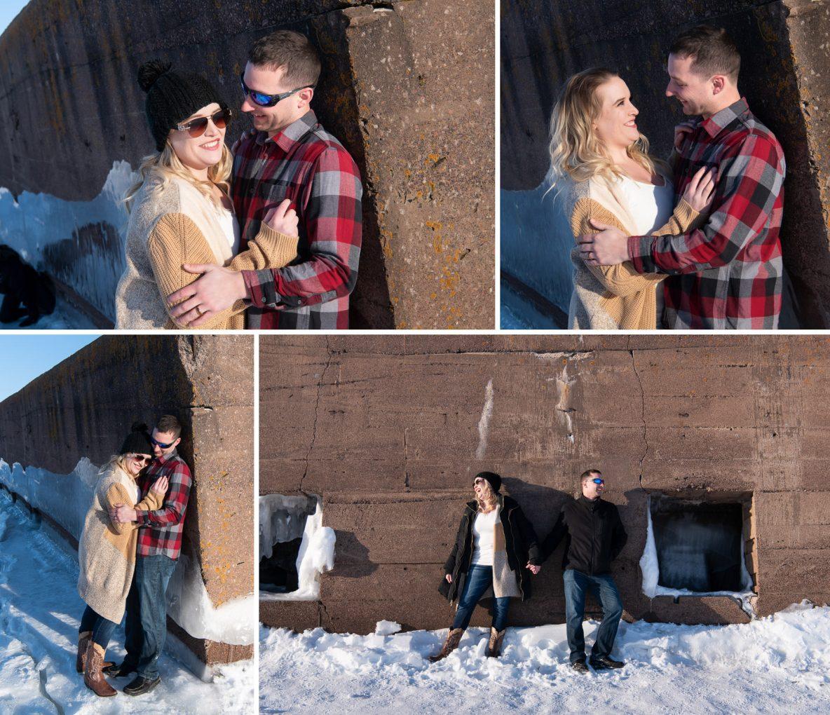 Brad and Miala on Lake Superior.