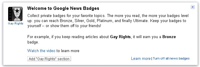 Google News Badges