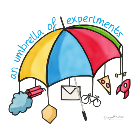 An umbrella of experiments