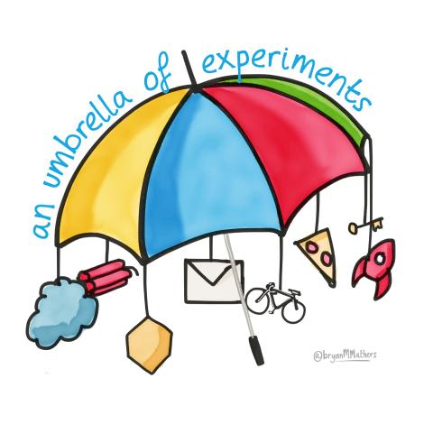 An umbrella of experiments