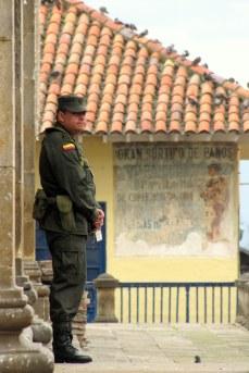 Police Officer in Plaza Bolivar, Bogotá.