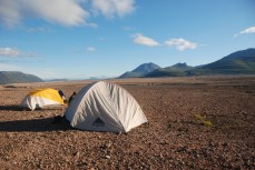 """Camping in the Valley of Ten Thousand Smokes, Alaska from """"Stick to the Trail"""""""