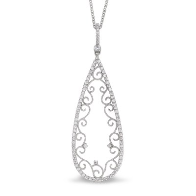 Necklaces bryant sons ltd diamond filigree pendant aloadofball Choice Image