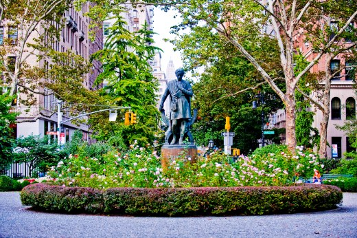 Gramercy Park first day of Fall