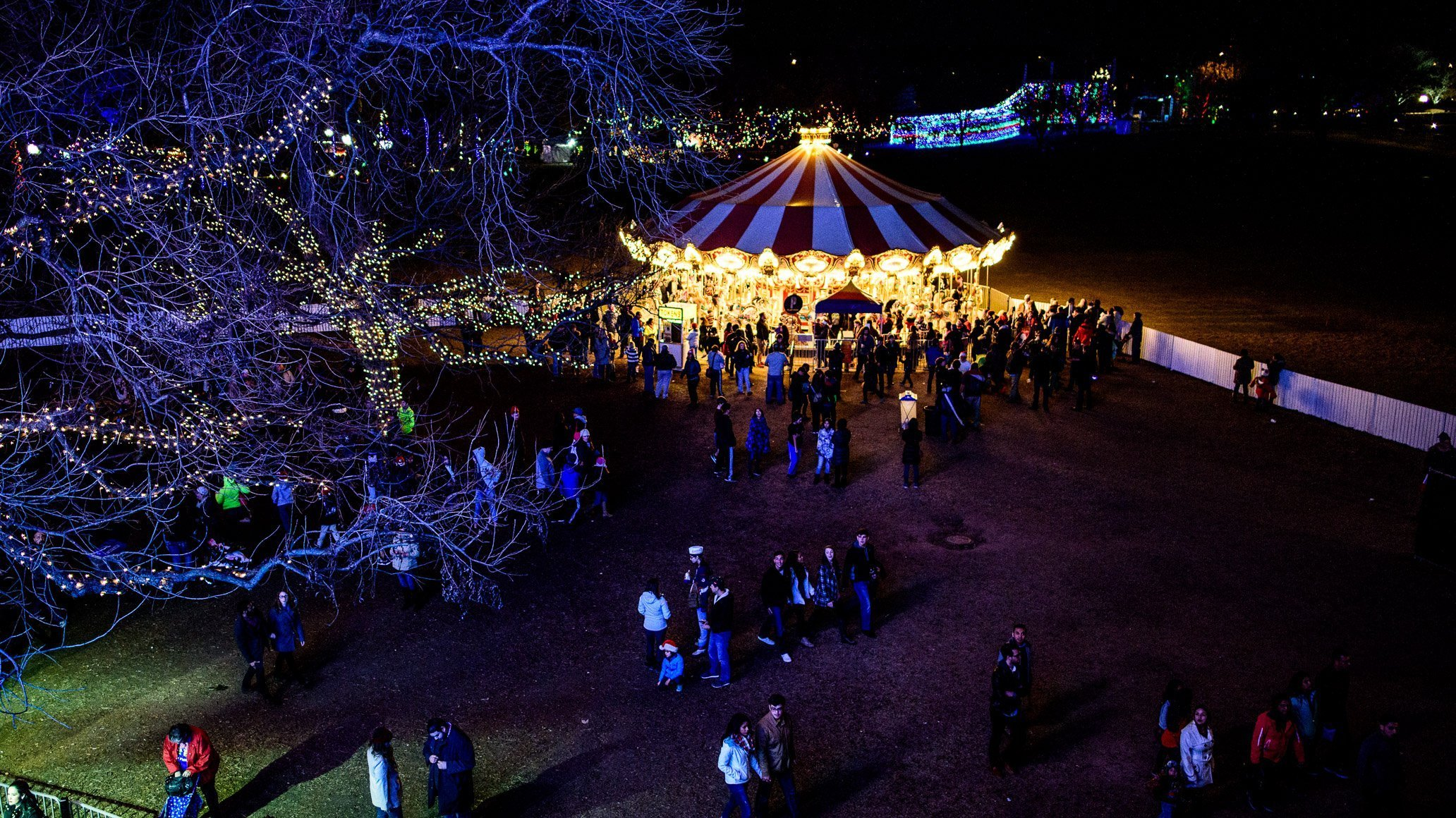 Trail of Lights, carousel