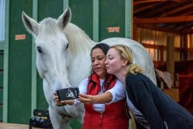 SuzyMae and Silvia horse selfie