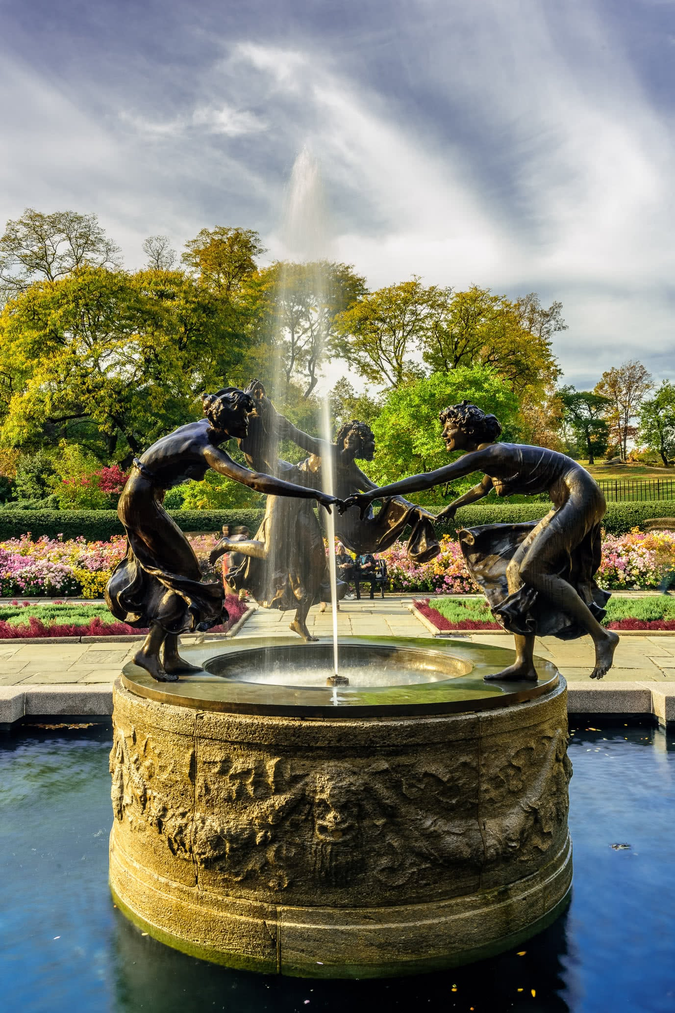 Central Park, Conservatory Garden and Untermyer Fountain