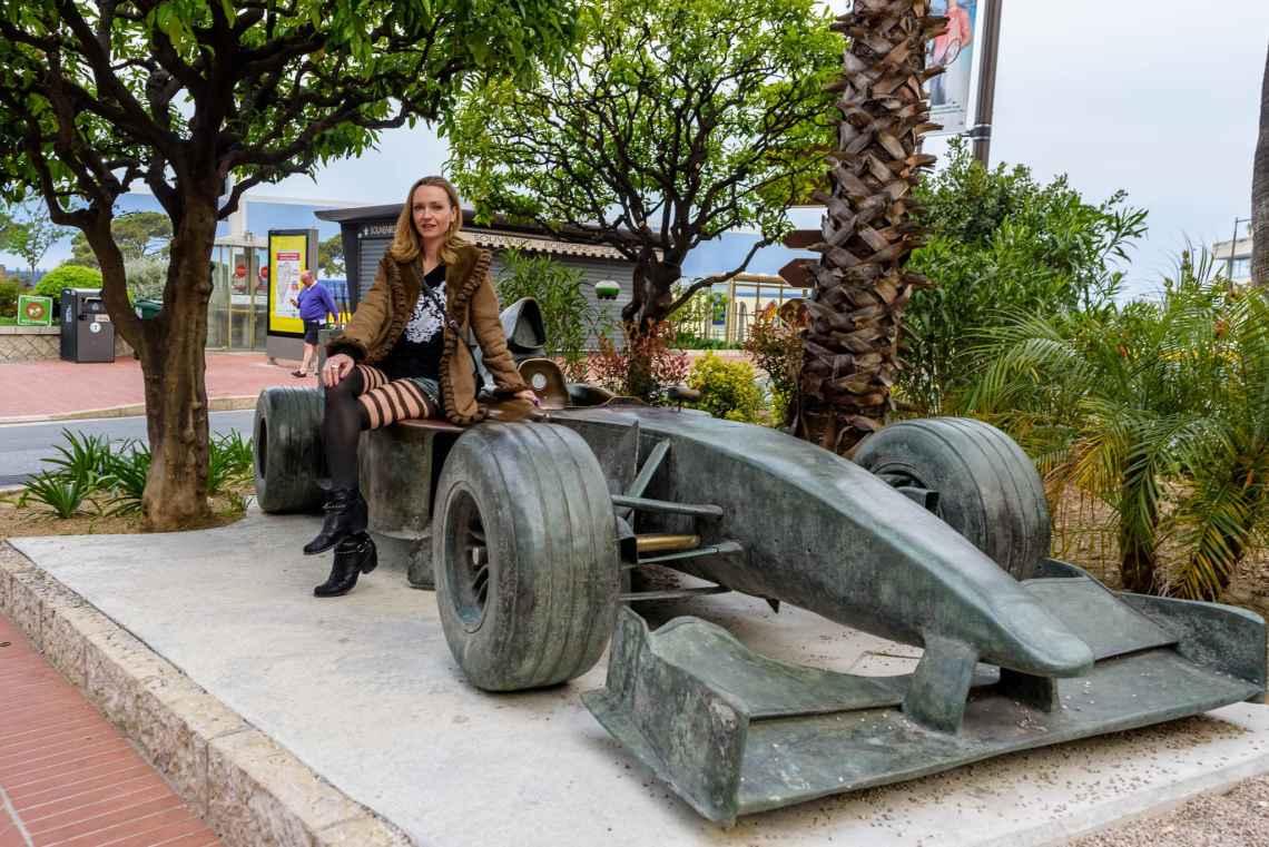 SuzyMae on an F1 in Monaco