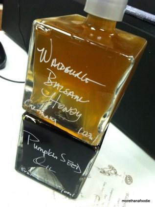 pumpkin oil honey balsamic vinegar