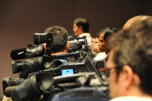 Cameras-at-a-Press-Conference Cameras at a Press Conference