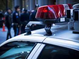Police Car - Red Light Focus