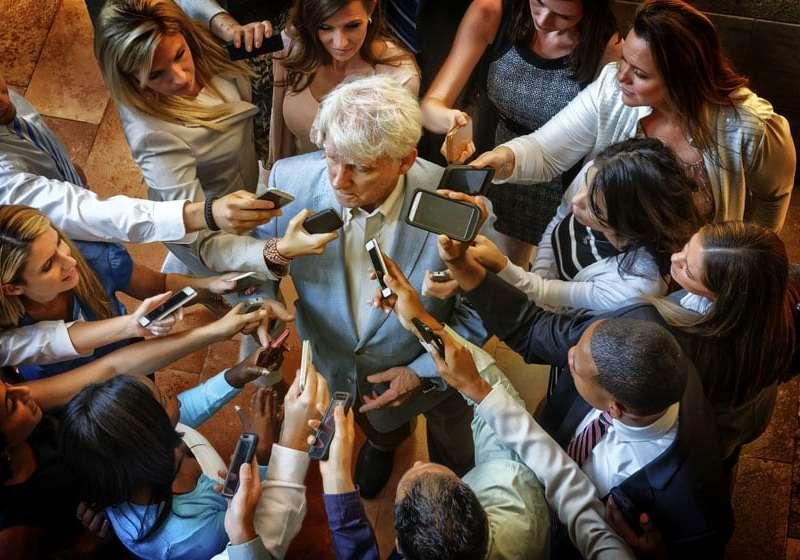 Press Conference - Centered above Spokesperson