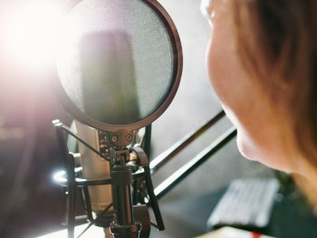 Podcaster at the Mic