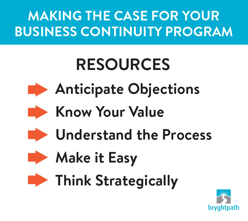 Making-the-Case-Resources Making the Case for your Business Continuity Program