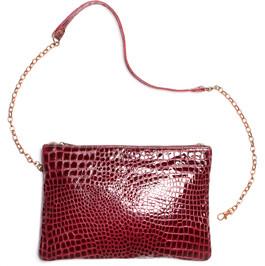 Crocodile-Embossed-Leather-Bag