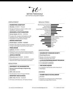 Brynn Tweeddale Resume