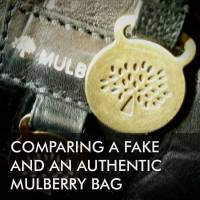 Comparing a fake and an authentic Mulberry bag