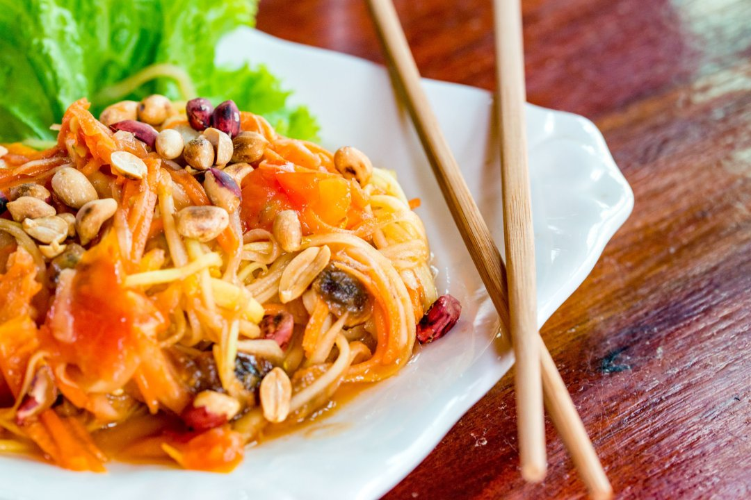 Photo of Pad Thai served at Zuela's Guesthouse in Luang Namtha, Laos