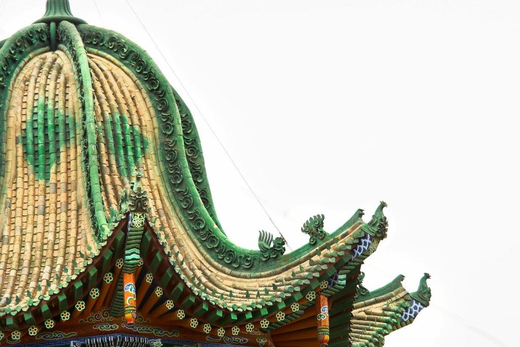 Photo of the roof of the Lao Dongxiang Muslim LIbaijian In Xining China