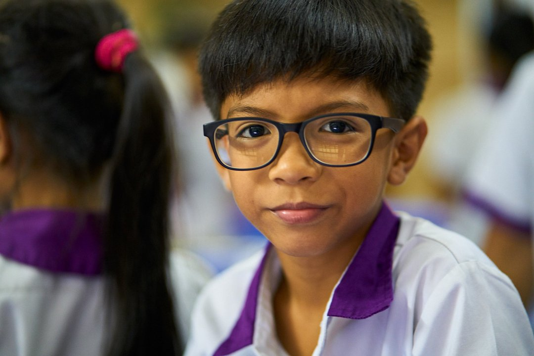 Photo of a student at New Life School in Phnom Penh, Cambodia